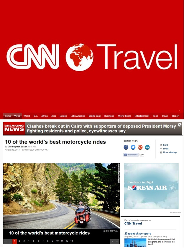 CNN Travel Top 10 Motorcycle Rides