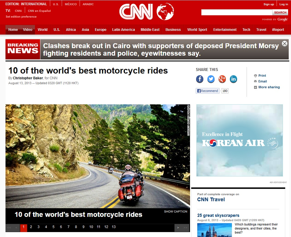 CNN 10 best motorcycle rides