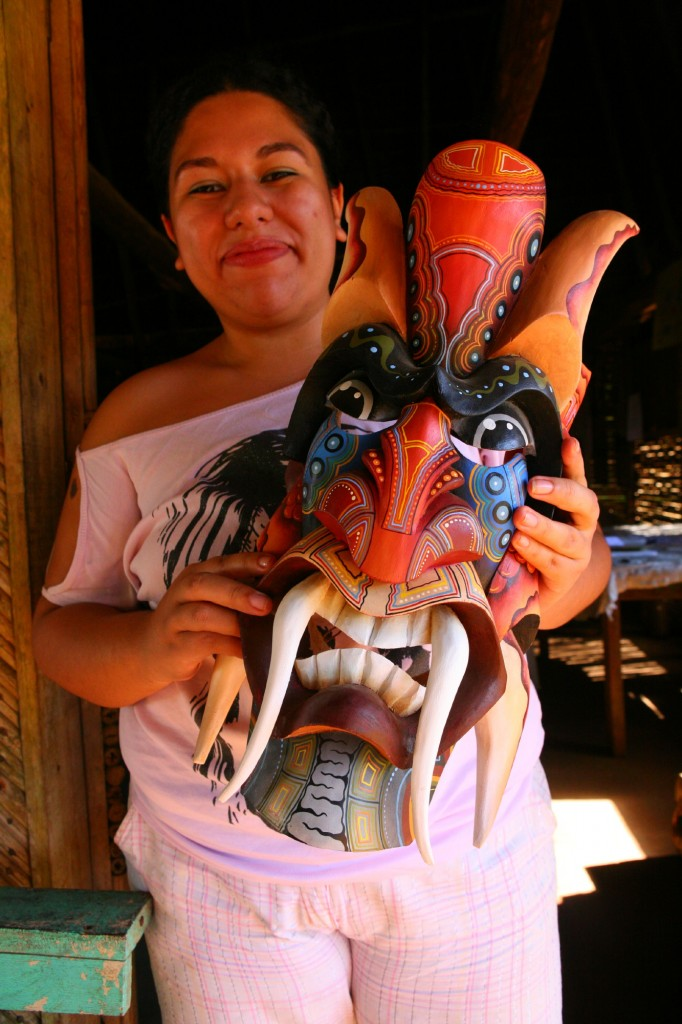 CR_2814 Mask at Boruca; copyright Christopher P Baker