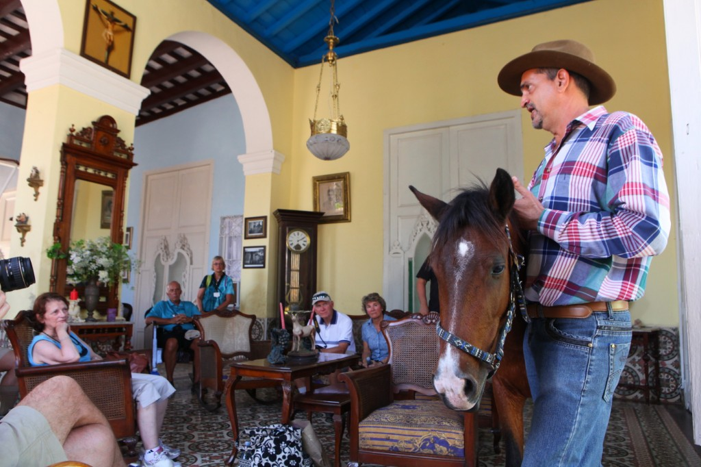 Julio Munoz and horse, Trinidad, Cuba on a National Geographic Expeditions program