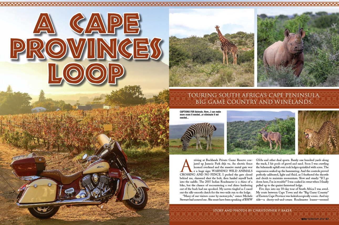 Rider magazine South Africa by 2015 Indian Roadmaster