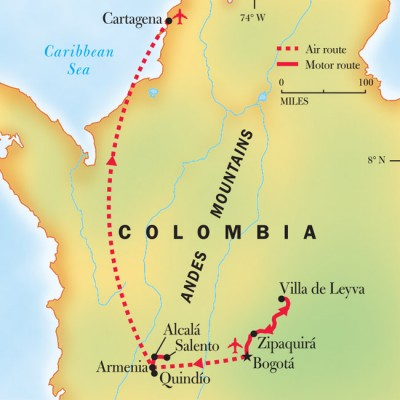 NGE Colombia map