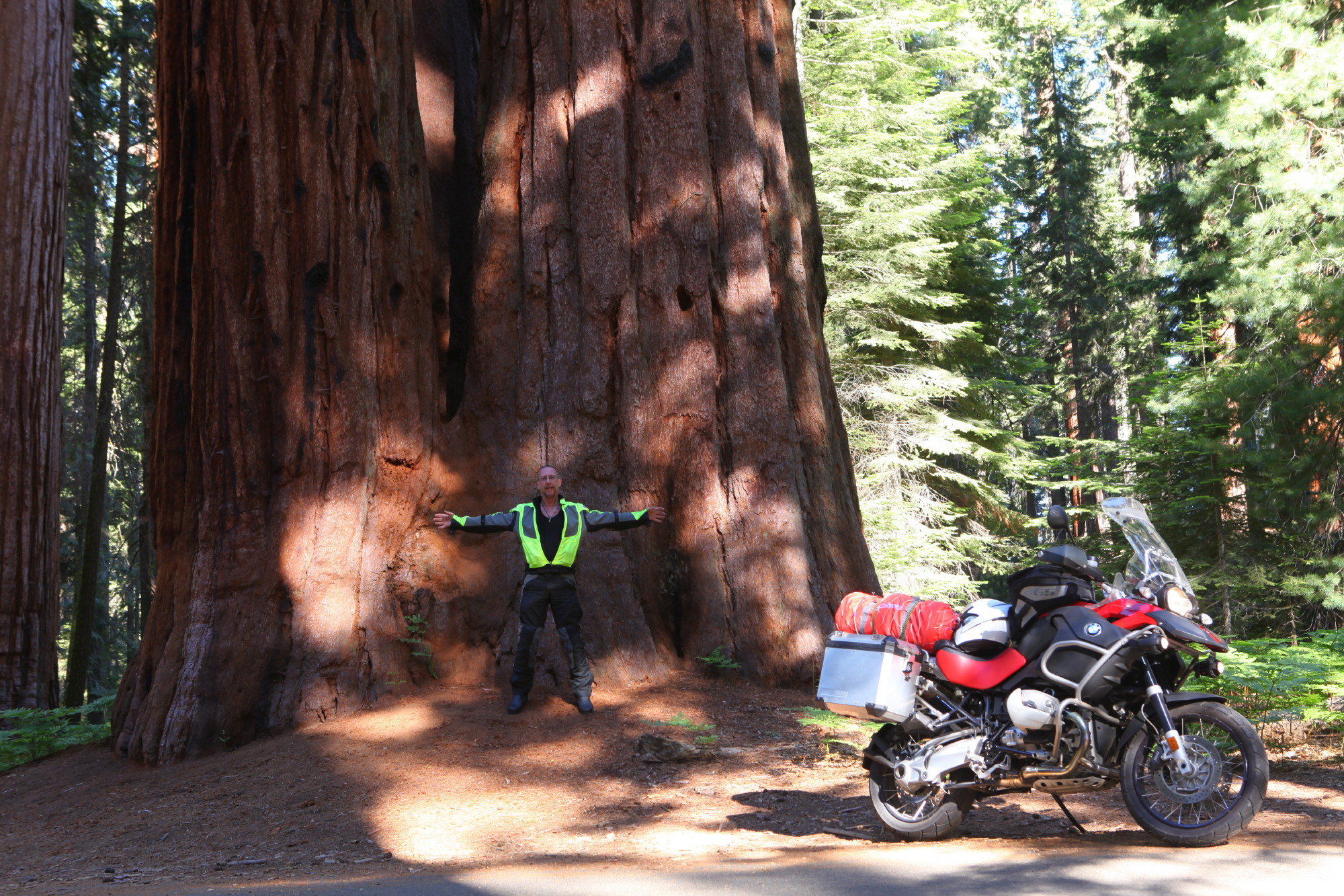 Me and my BMW at Sequoia National Park; copyright Christopher P Baker