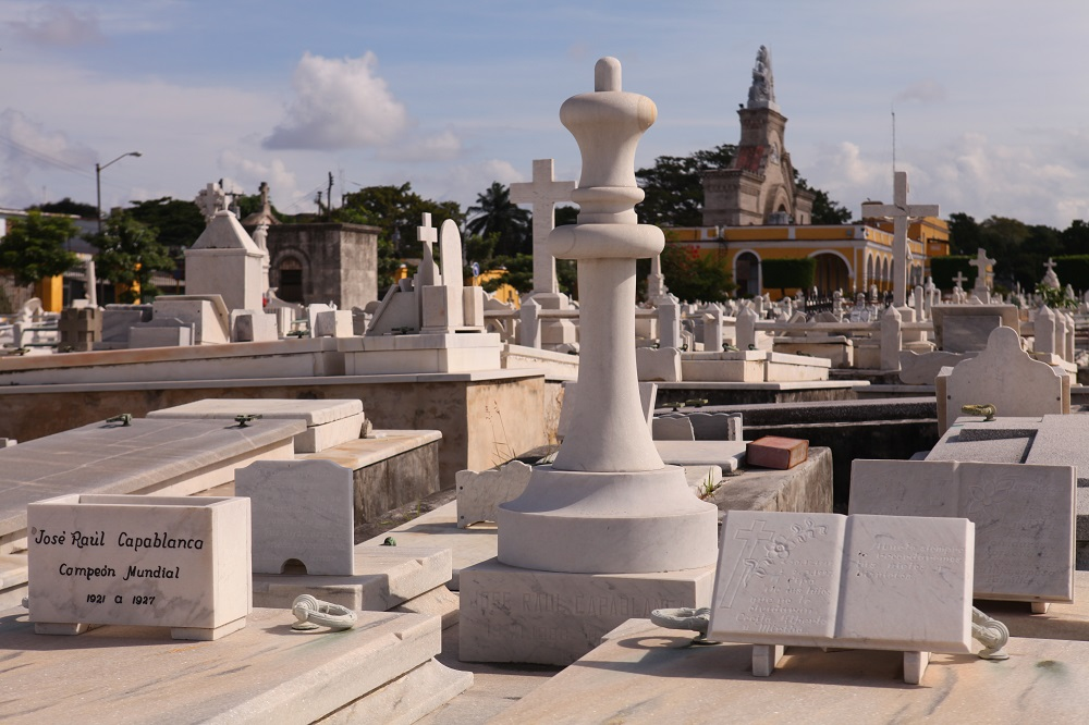 IMG_2584 Grave of Raul Capablanca, chess champion, Necropolis Cristobal Colon, Havana; copyright Christopher P Baker