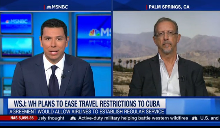 MSNBC with Cuba travel expert Christopher P Baker