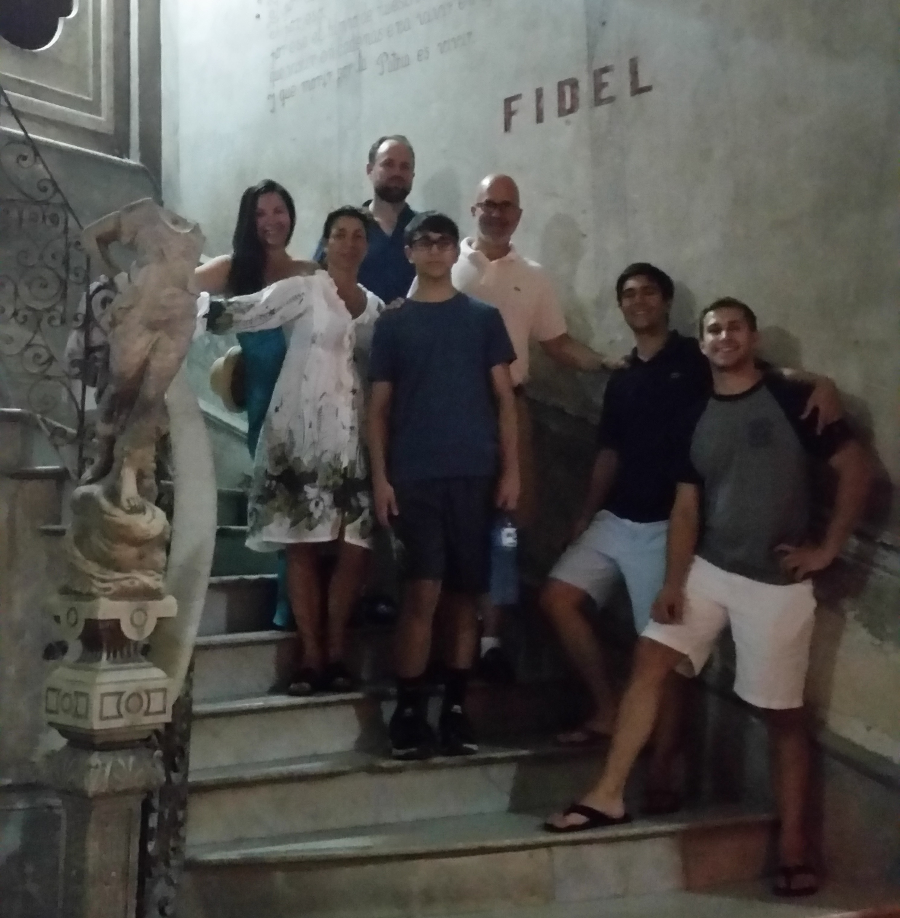 Michael Smerconish and family in La Guarida, Havana, cropped; copyright Christopher P. Baker