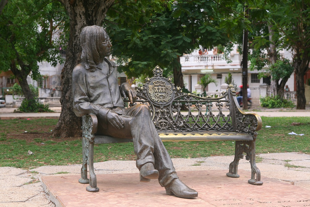 IMG_0305 John Lennon statute, Havana, Cuba; copyright Christopher P Baker