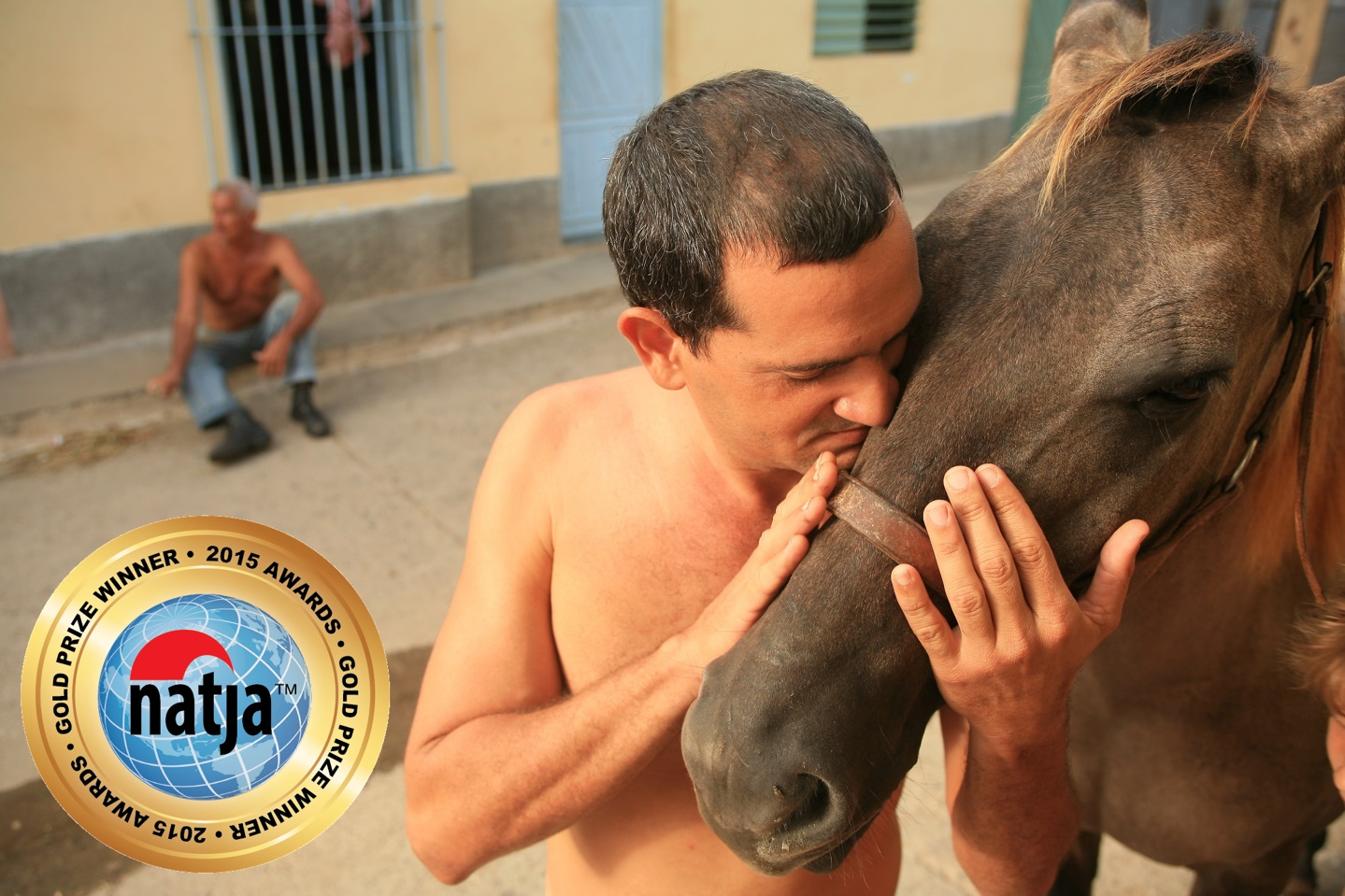 NATJA photo award, Julio Munoz and horse in Cuba, copyright Christopher P Baker