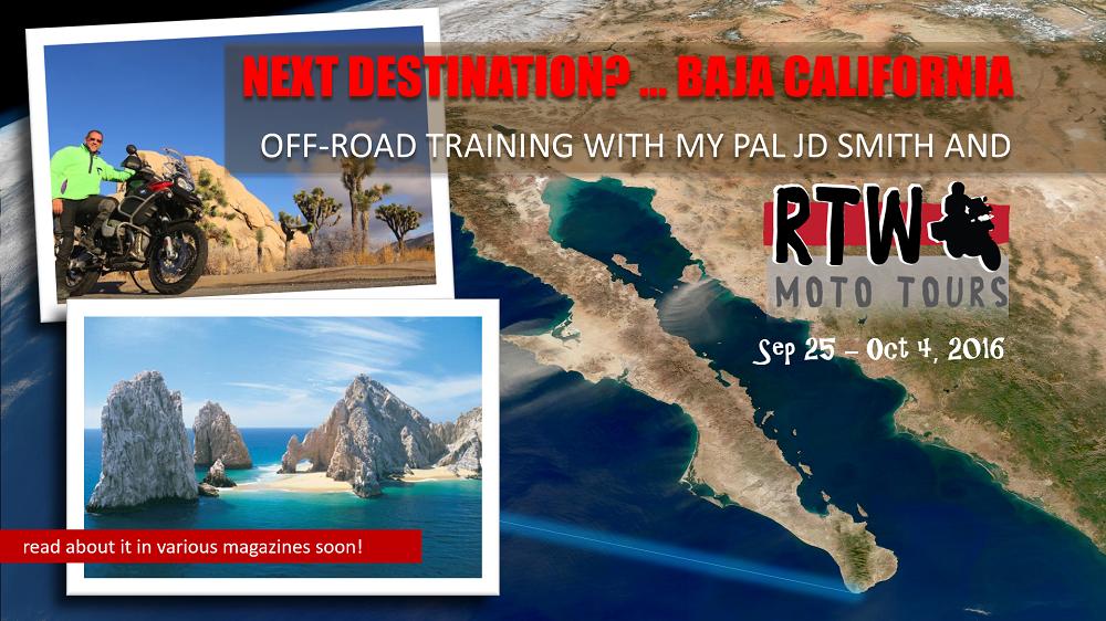 Baja California BMW 1200GSA motojournalist Christopher Baker RTW Moto Tours