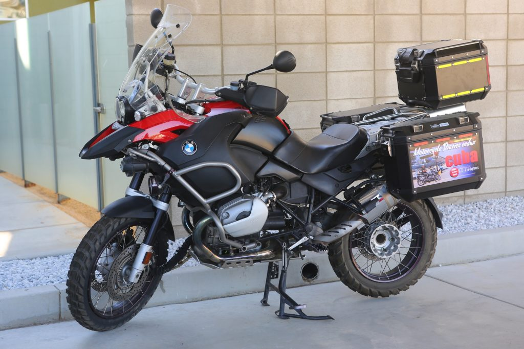 BMW R1200GS Givi Trekker Outback cases Christopher Baker
