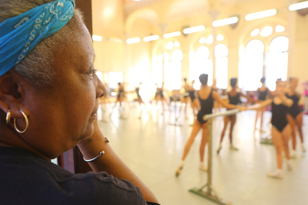 Admiring young dancers training at the Escuela Nacional de Ballet, Havana, Cuba; copyright Christopher P Baker