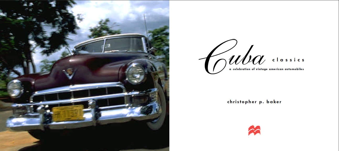 Cuba classic cars coffee table book
