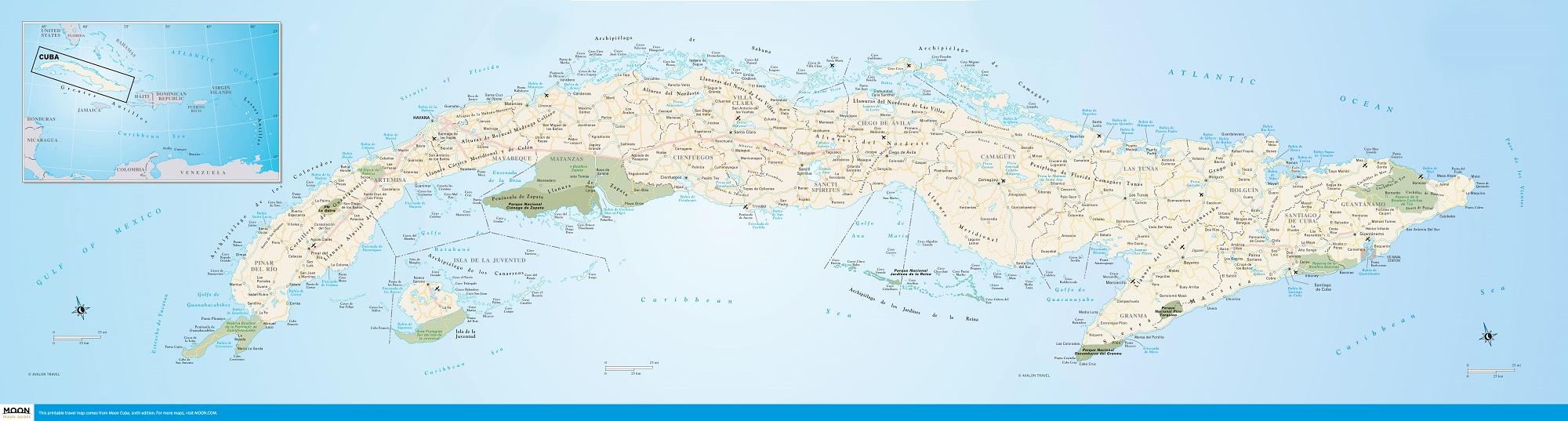Moon Cuba guidebook 00_00_Cuba map 2000px